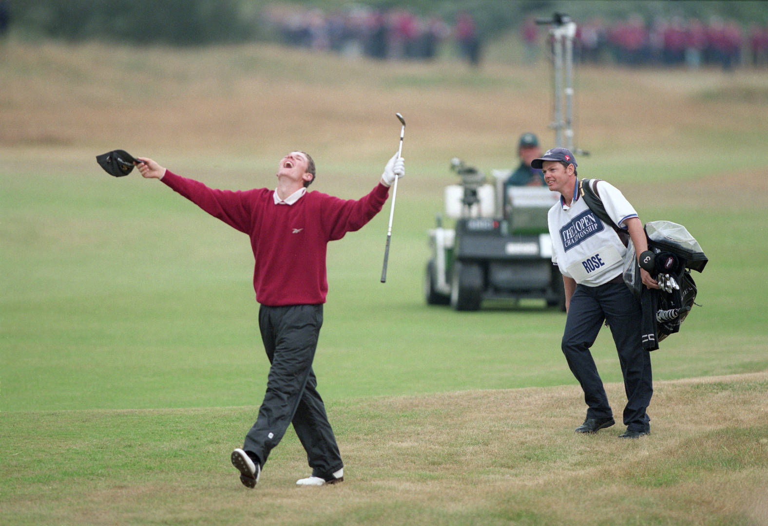 Justin Rose makes eagle on 18 at Royal Birkdale to win the Silver Medal, 1998