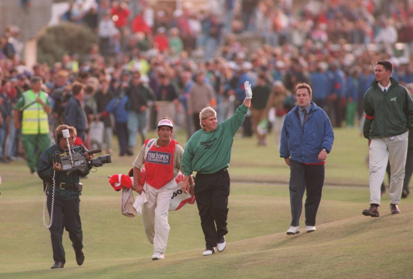 John Daly wins The 124th Open beating Costantino Rocca in a play-off, 1995