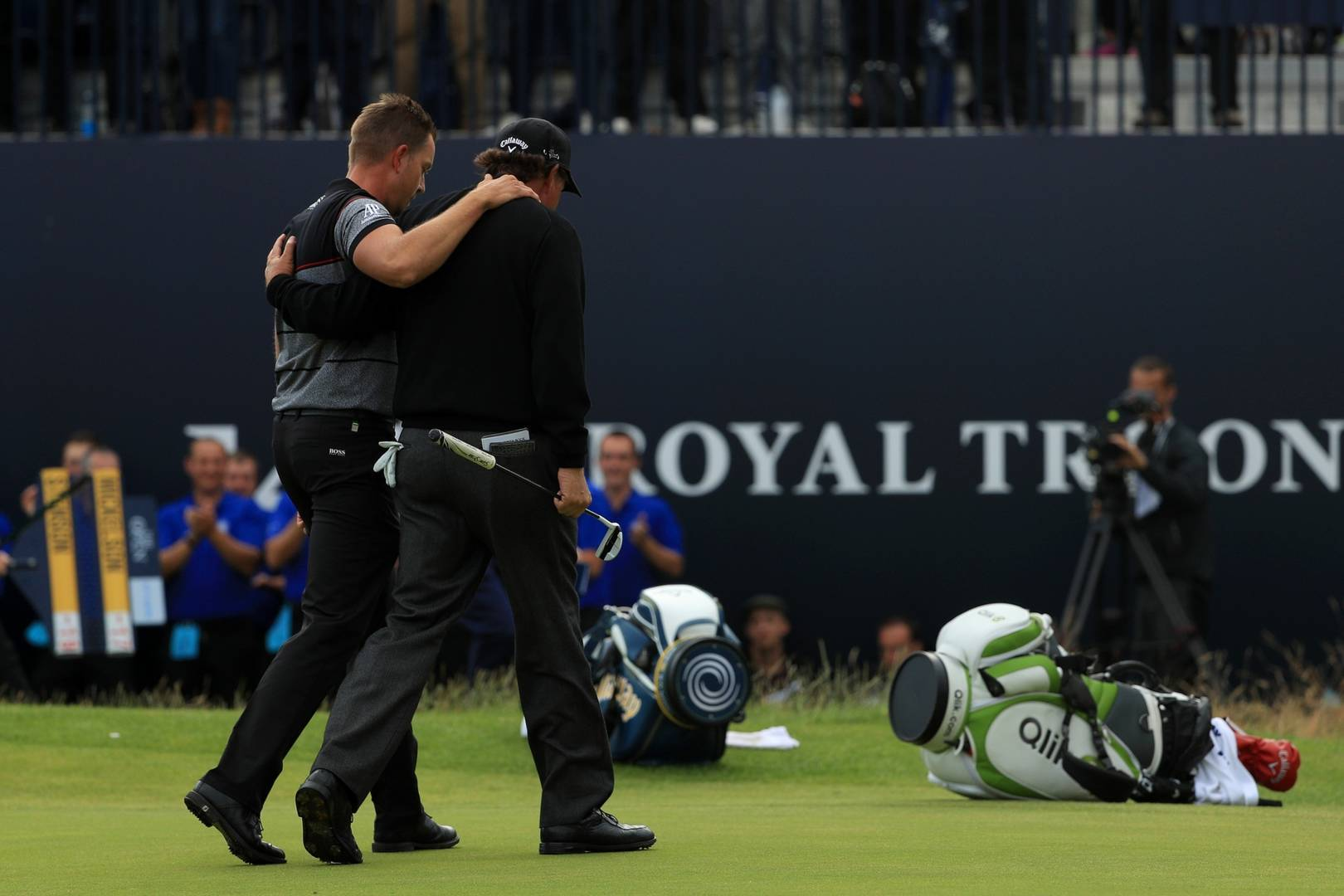 Henrik Stenson and Phil Mickelson at Royal Troon